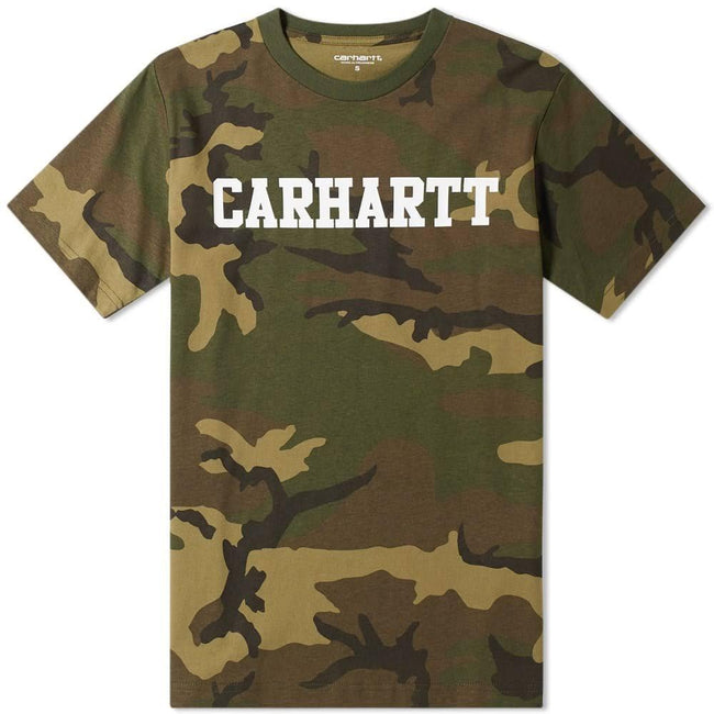 Carhartt S/S College T-Shirt in Camo Lurel/White T-Shirts Carhartt