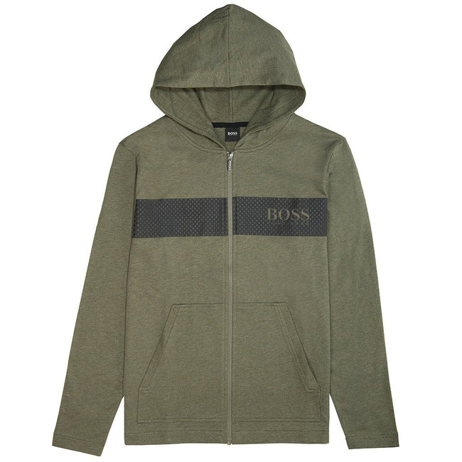 BOSS Bodywear Full Zip Contemp Jacket in Khaki Hoodies BOSS