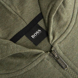 BOSS Bodywear Full Zip Contemp Jacket in Khaki