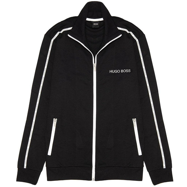 BOSS Bodywear Full Zip Track Jacket in Black Jumpers BOSS