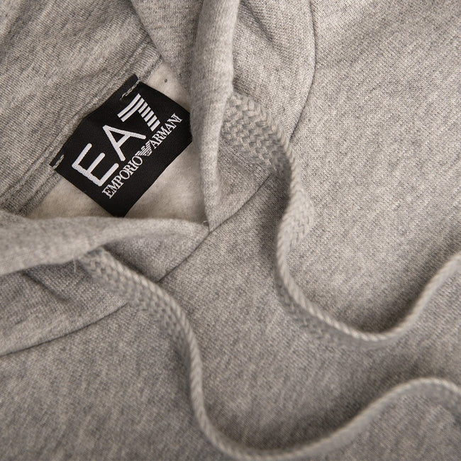 EA7 Emporio Armani Hooded Sweatshirt in Medium Grey Marl
