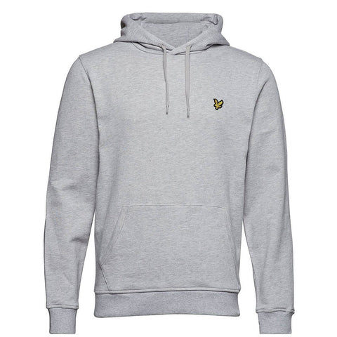 Lyle & Scott Pullover Hoodie in Light Grey Marl Hoodies Lyle & Scott