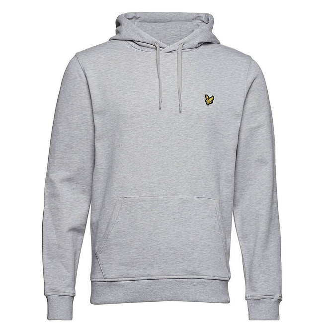 Lyle & Scott Pullover Hoodie in Light Grey Marl