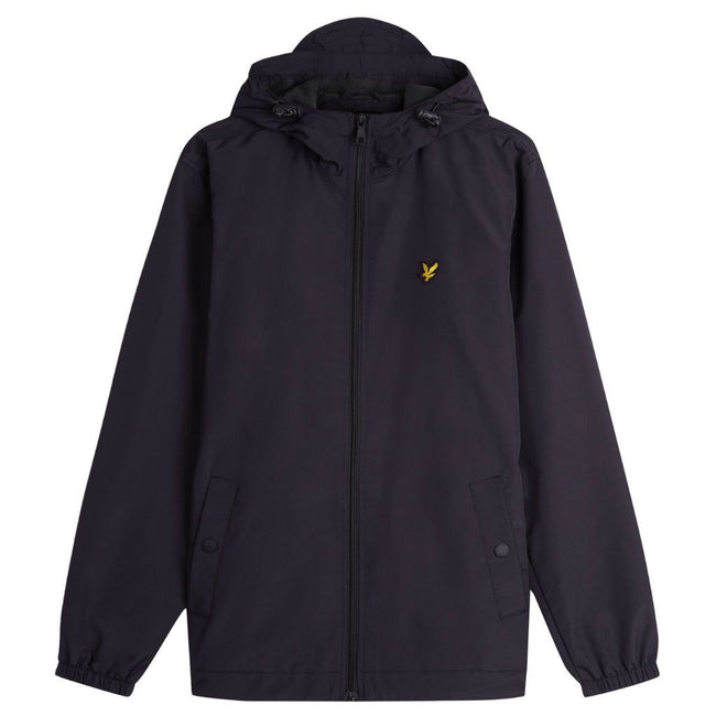 Lyle & Scott Zip Through Hooded Jacket in True Black