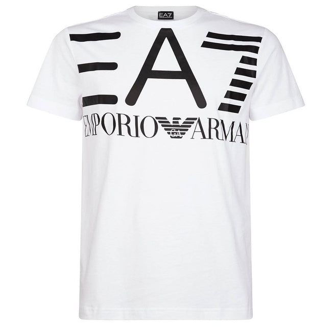 EA7 Emporio Armani Graphic T-Shirt in White T-Shirts Emporio Armani EA7