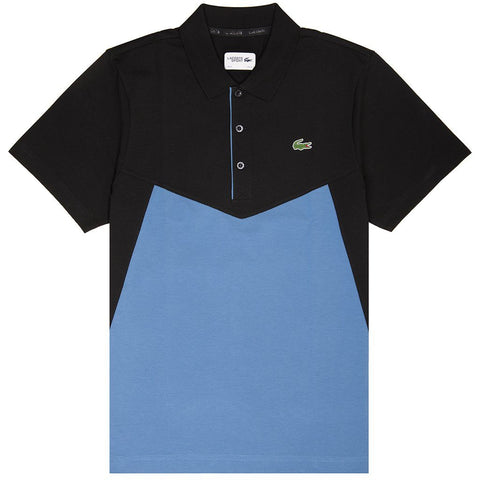Lacoste Sport yh3457-9wy Panel Polo Shirt in Blue/ Black Polo Shirts Lacoste