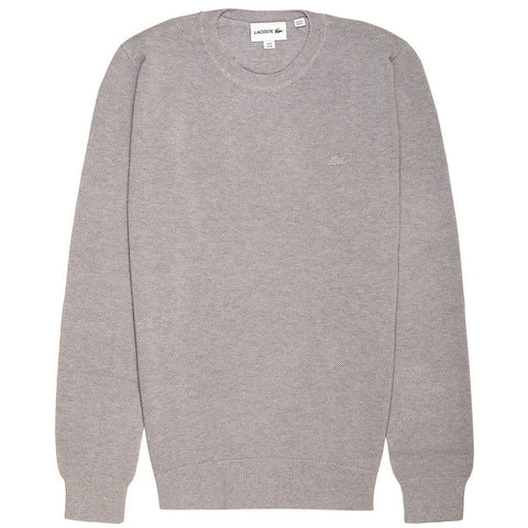 Lacoste AH4082-CCA Pique Sweatshirt in Grey Jumpers Lacoste
