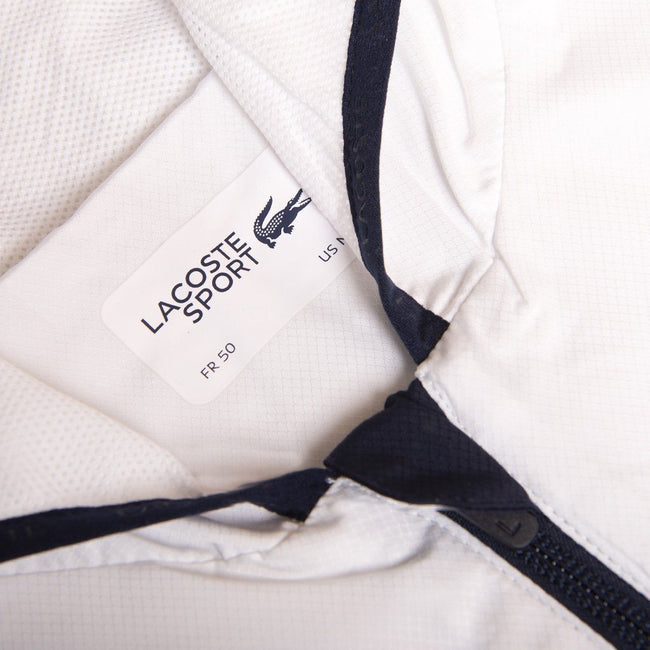 Lacoste Sport BH3588-A10 Full Zip Jacket in White/ Navy/ Red