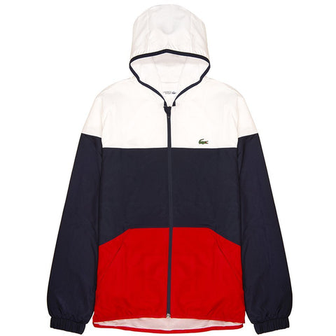 Lacoste Sport BH3588-A10 Full Zip Jacket in White/ Navy/ Red Coats & Jackets Lacoste