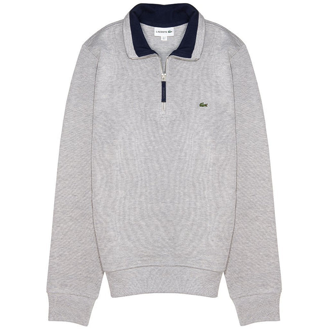 Lacoste SH4288-MNC Quarter- Zip Sweatshirt in Grey