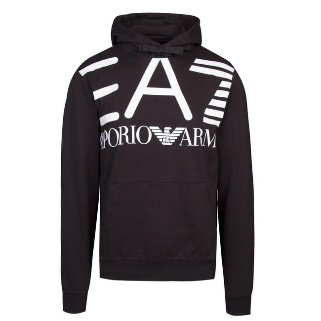 EA7 Emporio Armani Train Oversize Logo Sweatshirt in Black