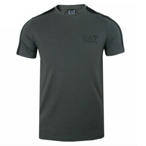 EA7 Emporio Armani Tapered Sleeve T-Shirt in Asphalt Grey T-Shirts Emporio Armani EA7