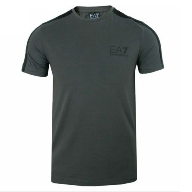 EA7 Emporio Armani Tapered Sleeve T-Shirt in Asphalt Grey