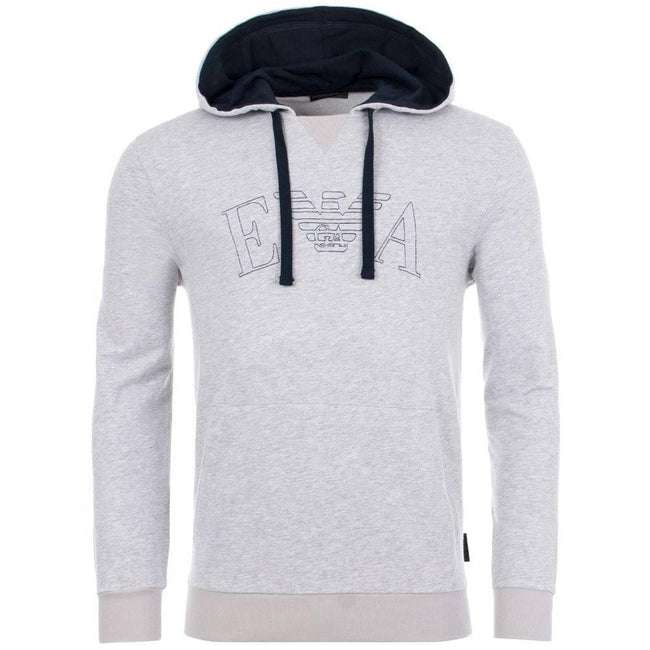 Emporio Armani Sports Hooded Sweater in Grey Hoodies Emporio Armani