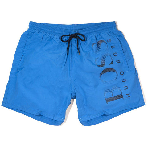BOSS Athleisure Octopus Swim Shorts in Royal Blue Swimwear BOSS