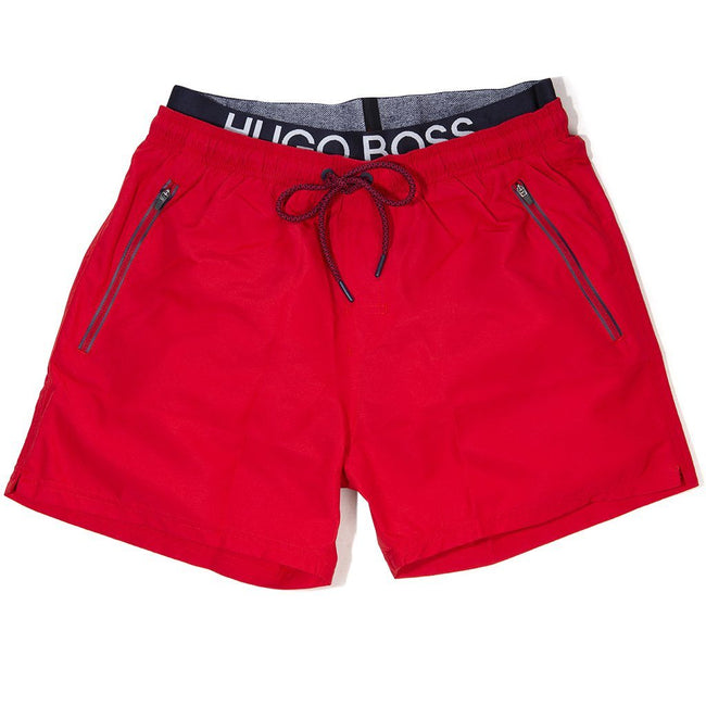 BOSS Athleisure Thornfish Swim Shorts in Red