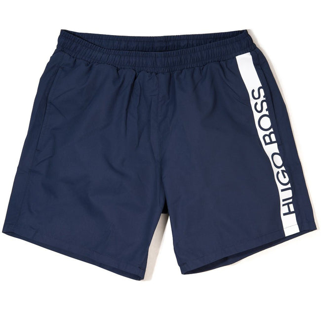 BOSS Athleisure Dolphin Swim Shorts in Navy