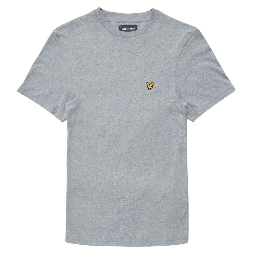 Lyle & Scott Plain T-Shirt in Mid Grey Marl