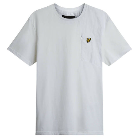 Lyle & Scott Casuals Fabric Mix T-Shirt in White T-Shirts Lyle & Scott