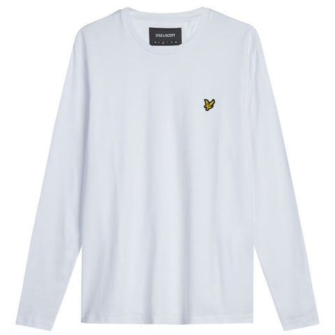 Lyle & Scott Long Sleeve T-Shirt in White T-Shirts Lyle & Scott