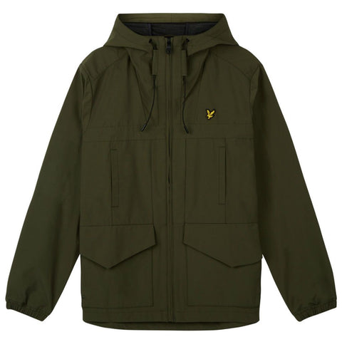Lyle & Scott Shell Jacket in Dark Sage Coats & Jackets Lyle & Scott
