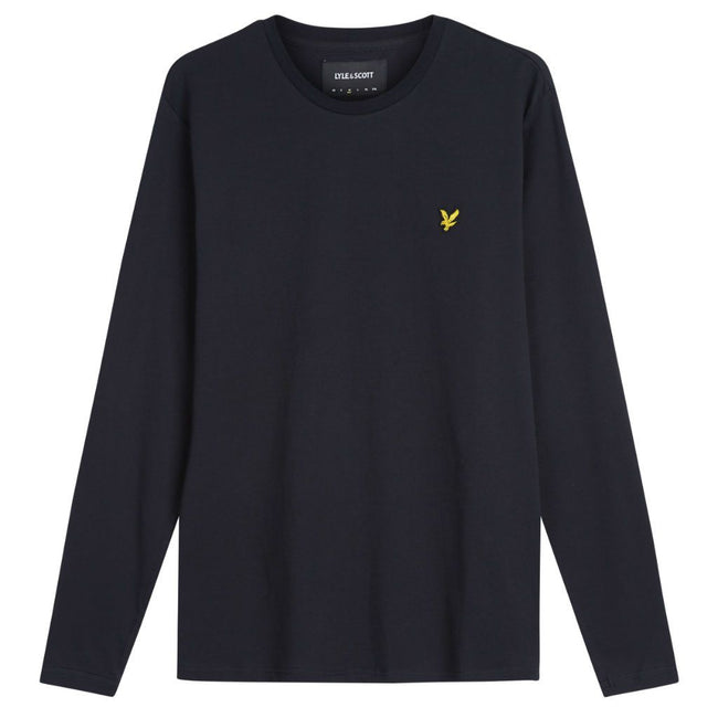 Lyle & Scott Long Sleeve T-Shirt in True Black