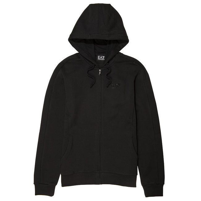 EA7 Emporio Armani Full Zip Hooded Sweatshirt in Black