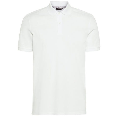 J. Lindeberg Troy Clean Pique Polo Shirt in White Polo Shirts J. Lindeberg