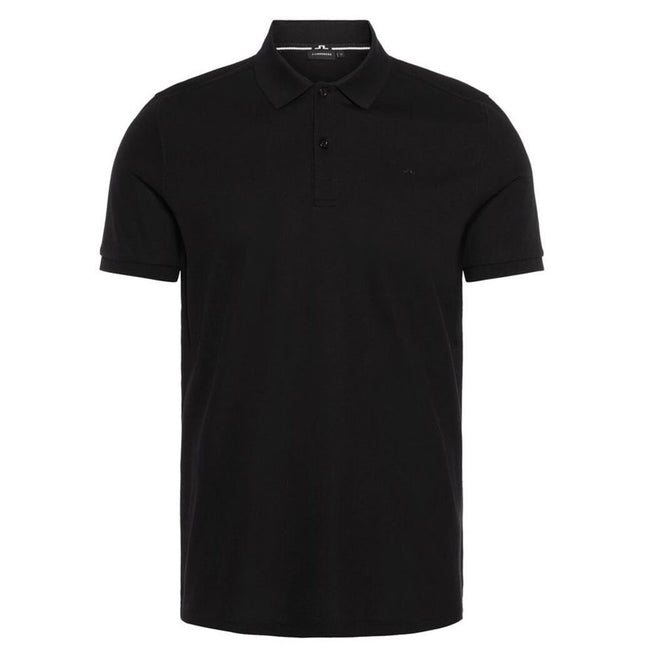 J. Lindeberg Troy Clean Pique Polo Shirt in Black