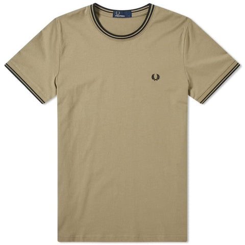 Fred Perry M1588 Twin Tipped T-Shirt in Sage T-Shirts Fred Perry