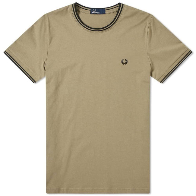 Fred Perry M1588 Twin Tipped T-Shirt in Sage