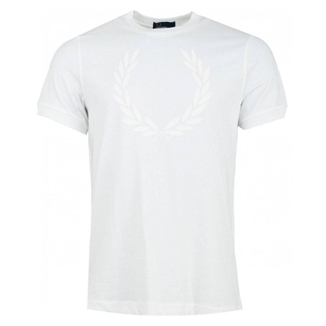 Fred Perry M5591 Lauren Wreath Textured T-Shirt In White