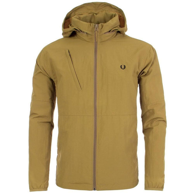Fred Perry J5517 Packaway Hood Jacket in Coyote Coats & Jackets Fred Perry