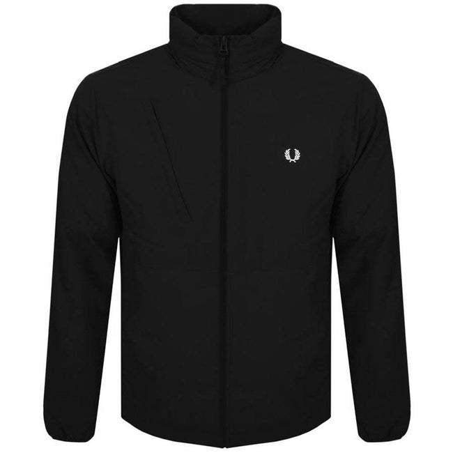 Fred Perry J5517 Packaway Hood Jacket In Black Coats & Jackets Fred Perry