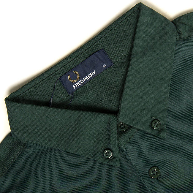 Fred Perry M4541 Oxford Trim Pique Shirt in Mallard