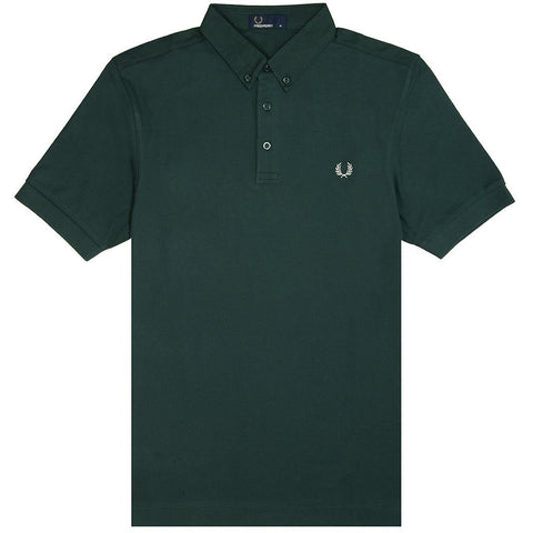 Fred Perry M4541 Oxford Trim Pique Shirt in Mallard Polo Shirts Fred Perry