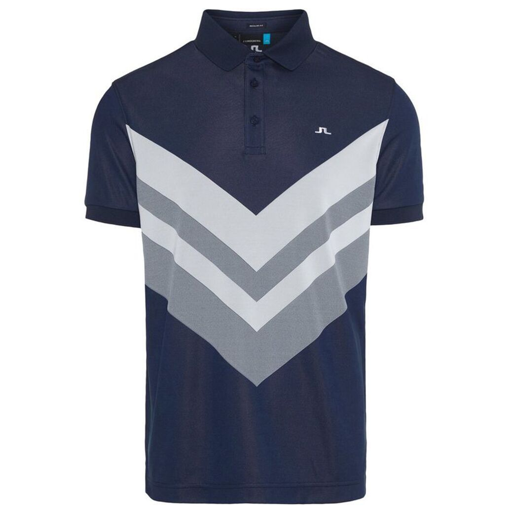 J. Lindeberg M Ace Reg Fit TX Jaquard Polo Shirt in JL Navy