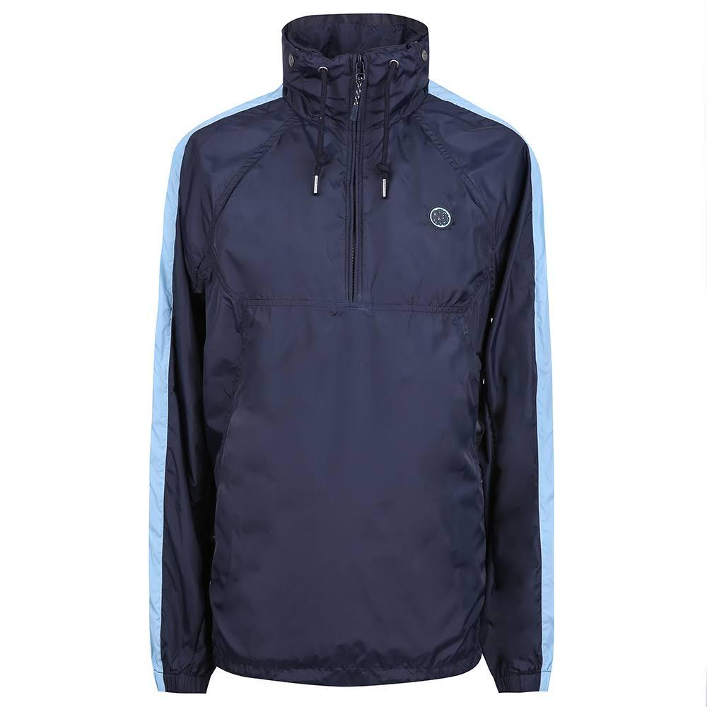 Pretty Green Overhead Hooded jacket in Navy