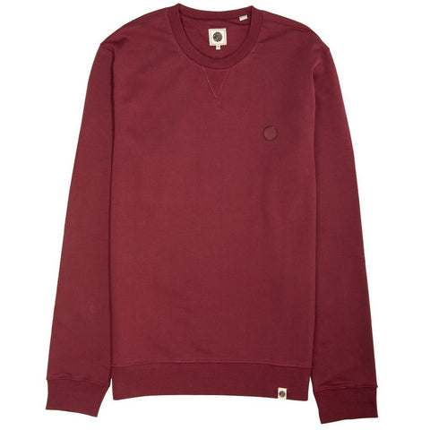 Pretty Green Loopback Cotton Crew Neck Sweater in Red sweatshirt Pretty Green