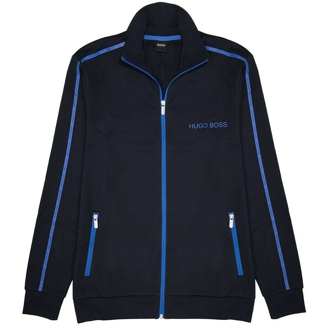 BOSS Bodywear Full Zip Track Jacket in Navy