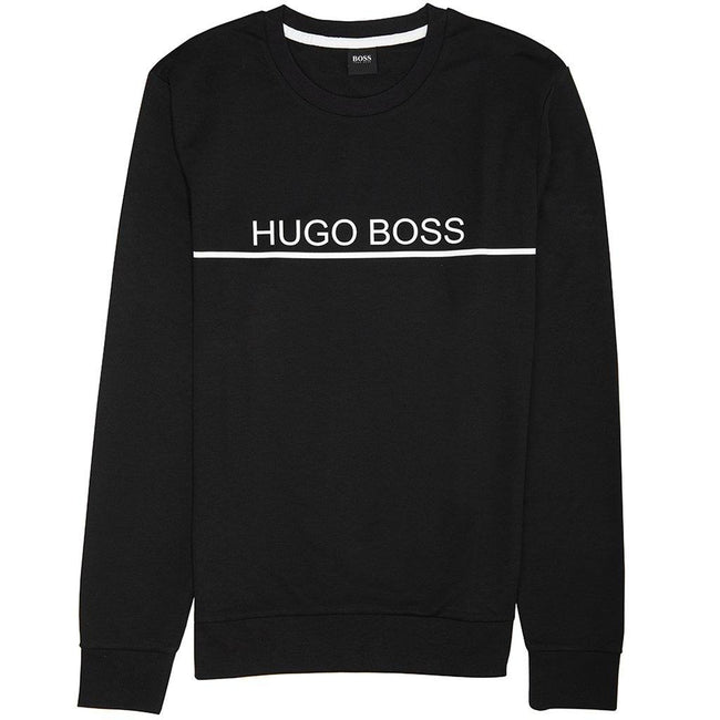 BOSS Bodywear Track Sweatshirt in Black Jumpers BOSS