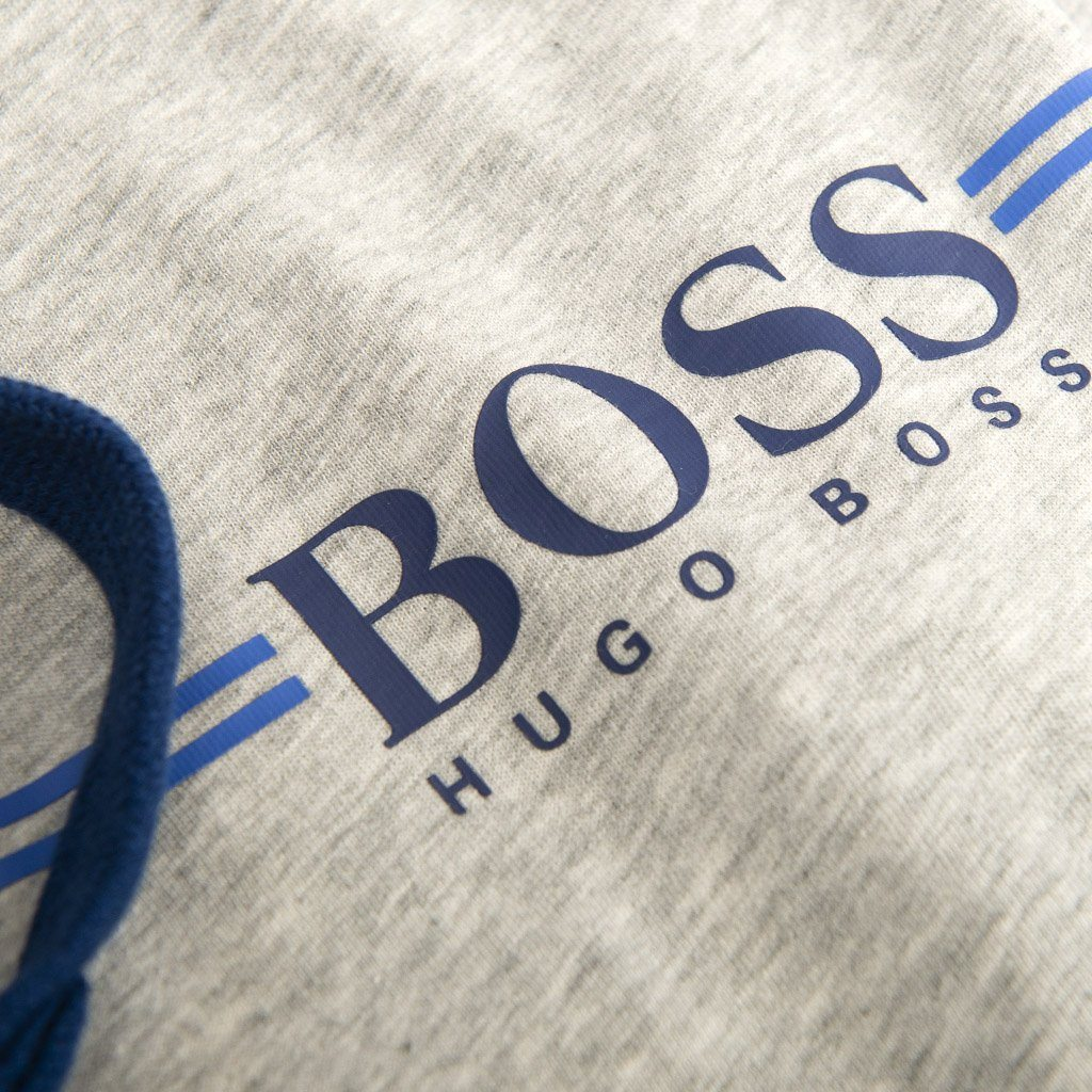 BOSS Bodywear Authentic Full Zip Hooded Track Jacket in Grey