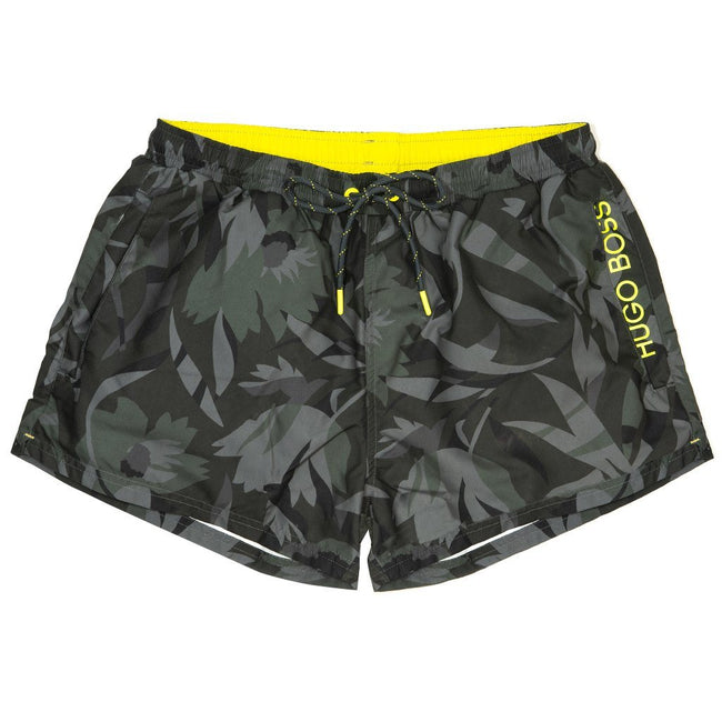 BOSS Athleisure Barreleye Swim Shorts in Camo Green