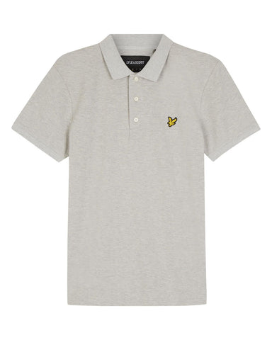 Lyle & Scott Slim Stretch Polo Shirt in Light Grey Marl Polo Shirts Lyle & Scott