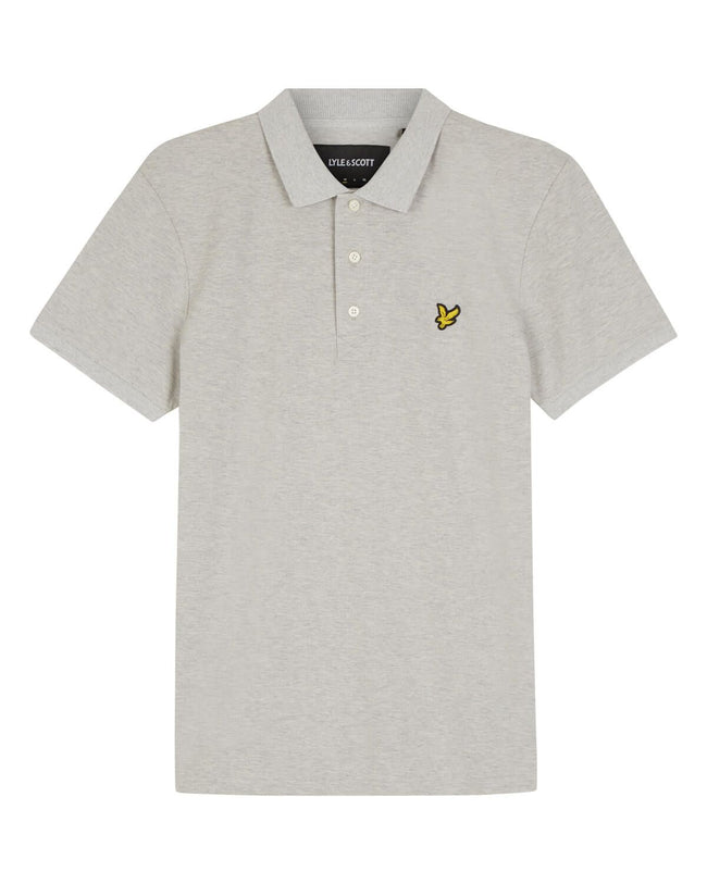 Lyle & Scott Slim Stretch Polo Shirt in Light Grey Marl
