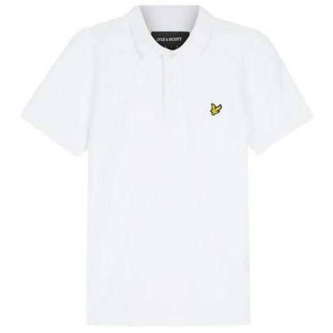 Slim Stretch Polo Shirt in White Polo Shirts Lyle & Scott