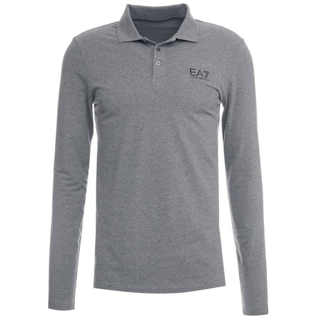Emporio Armani EA7 Polo Shirt in Dark Grey Melange