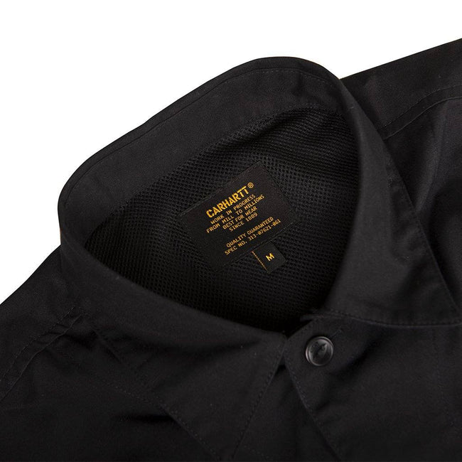 Carhartt WIP Long Sleeved Laxford Shirt in Black Rinsed