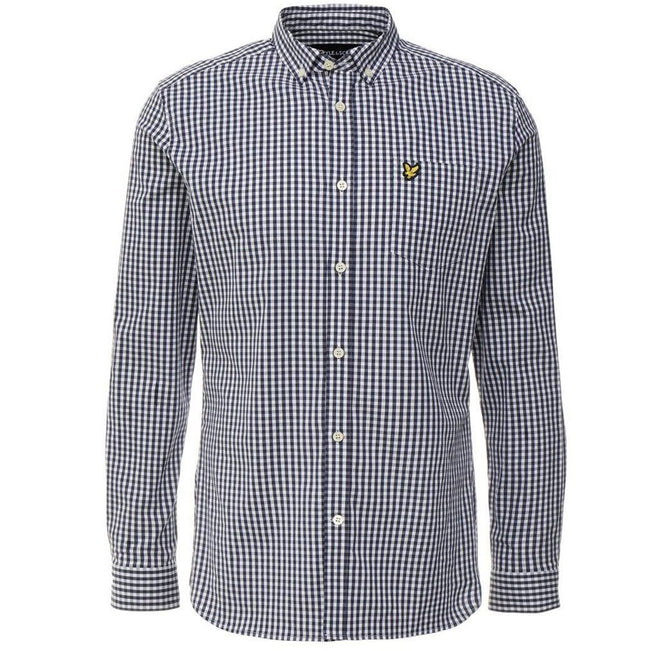 Lyle & Scott Slim Fit Gingham Shirt in Navy