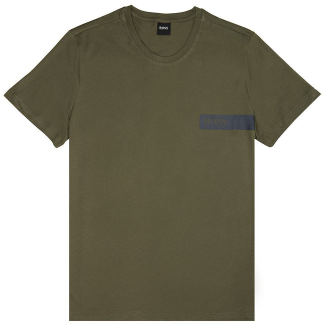 BOSS Bodywear T-Shirt RN in Green T-Shirts BOSS